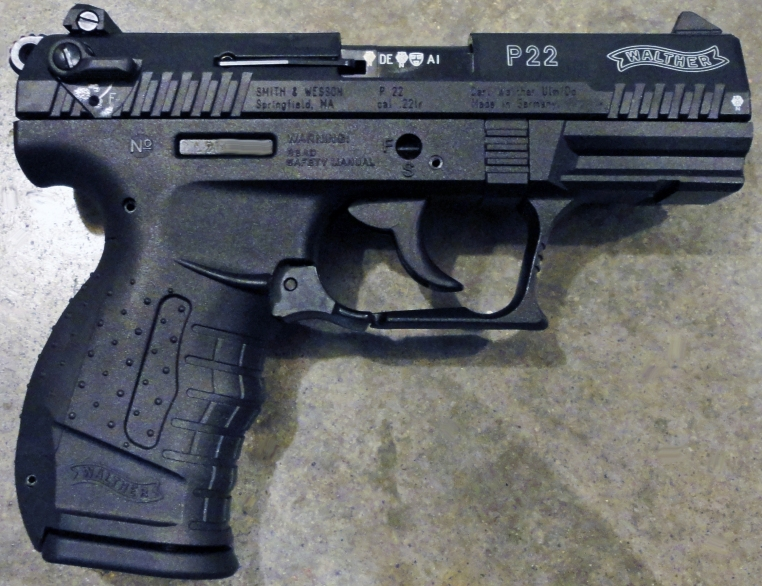 Walther P22 .22LR double action semiautomatic pistol