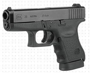 Glock 36: .45 Automatic Colt Pistol