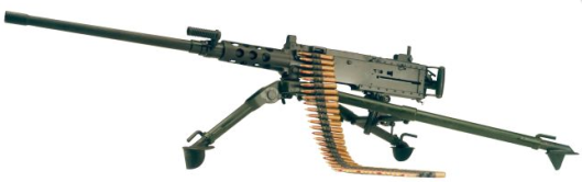 Browning M2 Heavy Barrel Heavy Machine Gun, Tripod Mounted