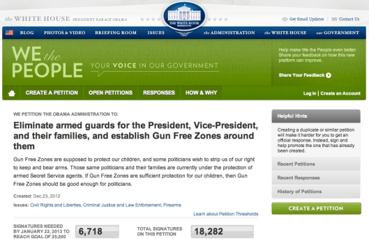 Gun Zone Petition WH