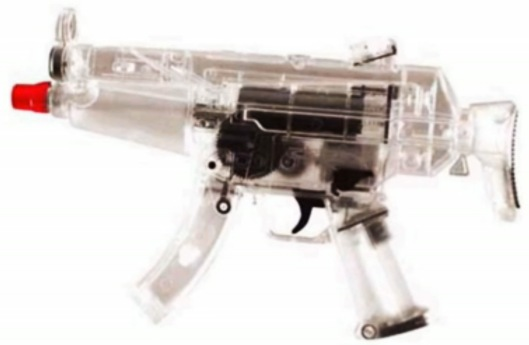 Transparent Airsoft gun similar to Naomi's