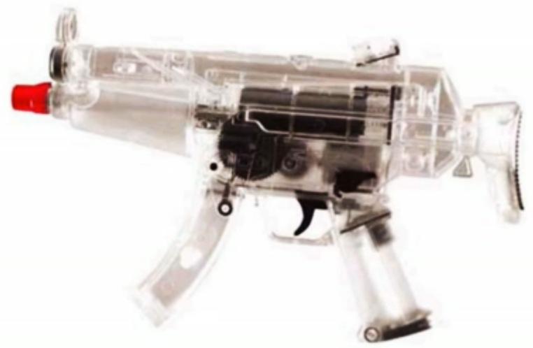 Transparent Airsoft gun similar to Naomi's