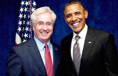 Former Colorado State Senator John Morse and President Obama