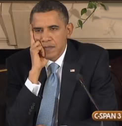 President Obama expressing his concern for the public...