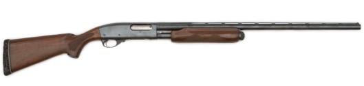 Common Remington 870 pump action shotgun