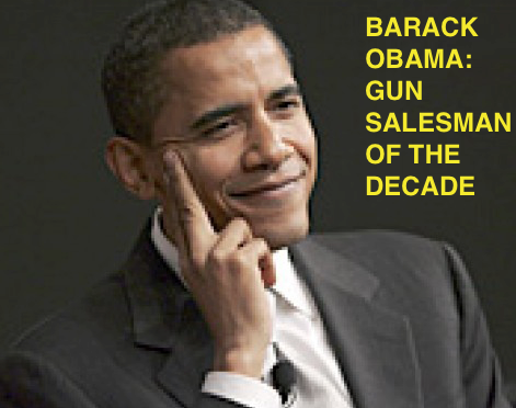 Barack Obama Gun Salesman Extraordinaire Stately