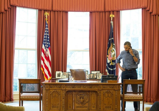 Indisputable proof that Mr. Obama was holding a phone at some point...