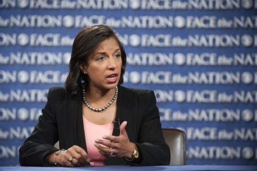 Susan Rice, reading whatever is put in front of her. credit: washingtonpost.com