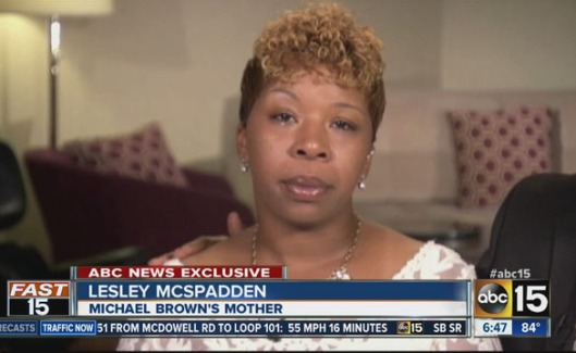 Brown's mother
