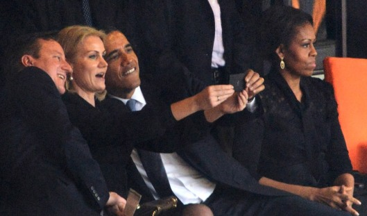 President Obama displaying dignity at a state funeral. credit: NYPost