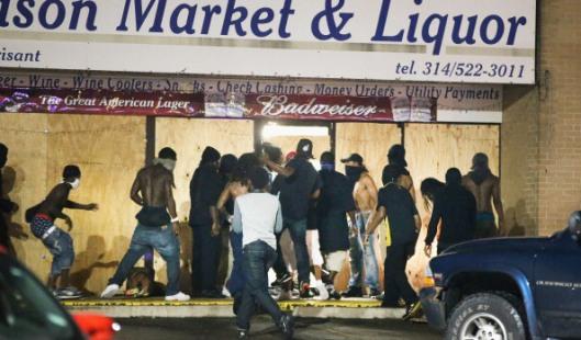 Looting In Ferguson credit: st.louis.cbs.local