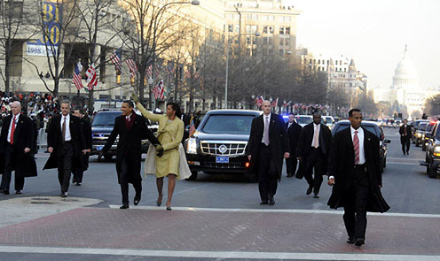 Inauguration Parade: Beginning Of The Decline? credit: US Secret Service