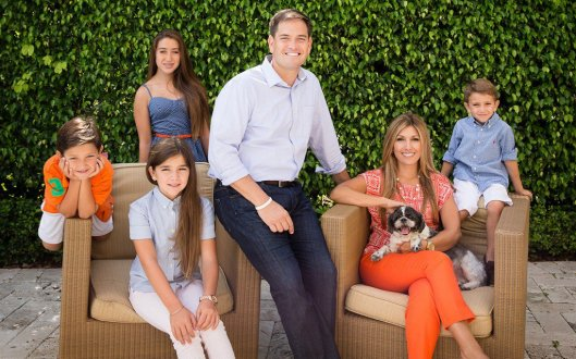"""Marco Rubio And His So-Called """"Family"""" credit: communitytable,com"""
