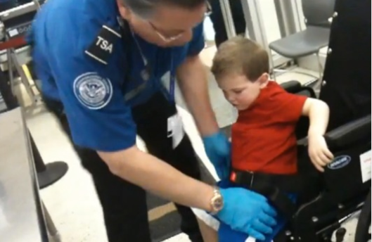 Diligent TSA agent searching obvious terrorist credit: abcnews