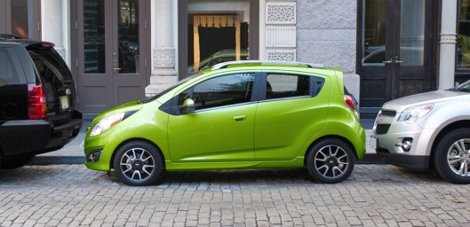 2015 Chevy Spark (it's the little green thing) credit: uftringweston.com