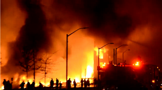 Baltimore on fire. credit: christianpost.com
