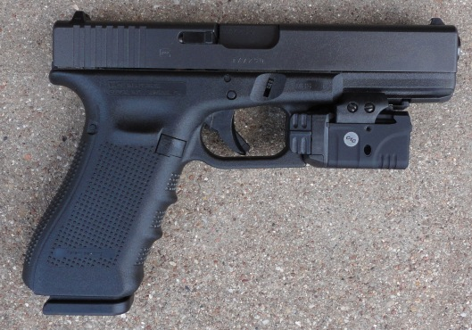 Glock 17 with Railmaster Pro (right side view)
