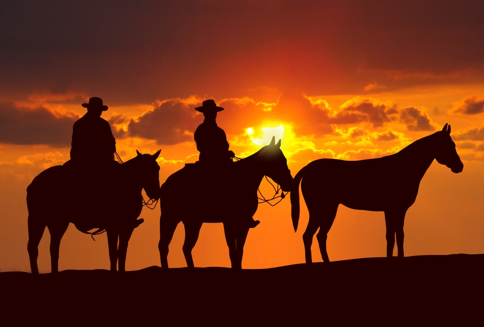 6947663-western-cowboys-at-sunset | Stately McDaniel Manor