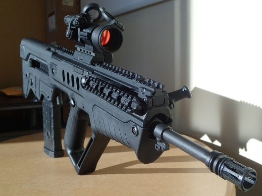 Tavor semiautomatic rifle credit: outdoorhub.com