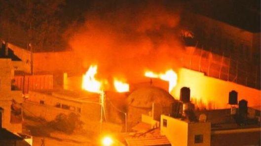 Joseph's Tomb Ablaze