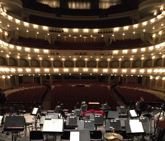 Onstage at Bass Hall