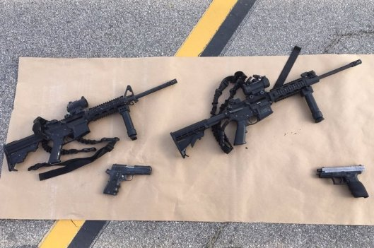 Weapons used by the San Bernardino killers. credit: npr.org