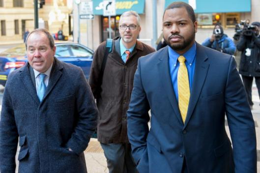 William Porter and his attorneys. credit: reuters