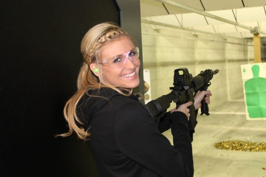 An actual woman enjoying shooting an AR-15: NOT a weenie.