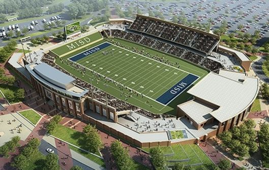 Artist's conception of the finished McKinney stadium.