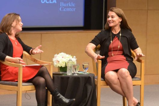 Melinda Gates (R) credit: newsroomucla.edu